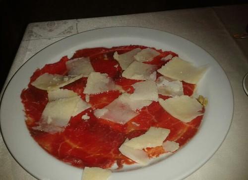 Zaragoza | Toscana Pasta & Pizza | Carpaccio con parmesano