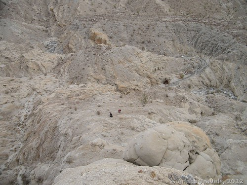 Climbing up out of the left side of the wash towards Truckhaven Rocks, Anza Borrego Desert State Park, California