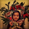 Couronne de Noël maison avec Maya