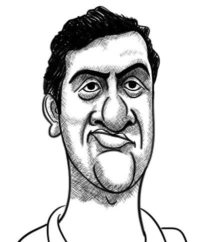 R Ashwin cartoon