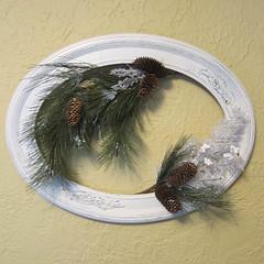 Vintage Frame Wreath