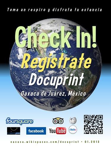 Docuprint Check In! Regístrate Oaxaca 01.2013