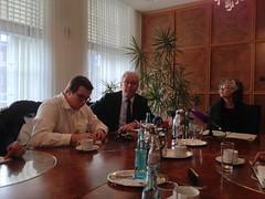 Dr. Ottilie Scholz und Bernd Wilmert (v.r.n.l.)