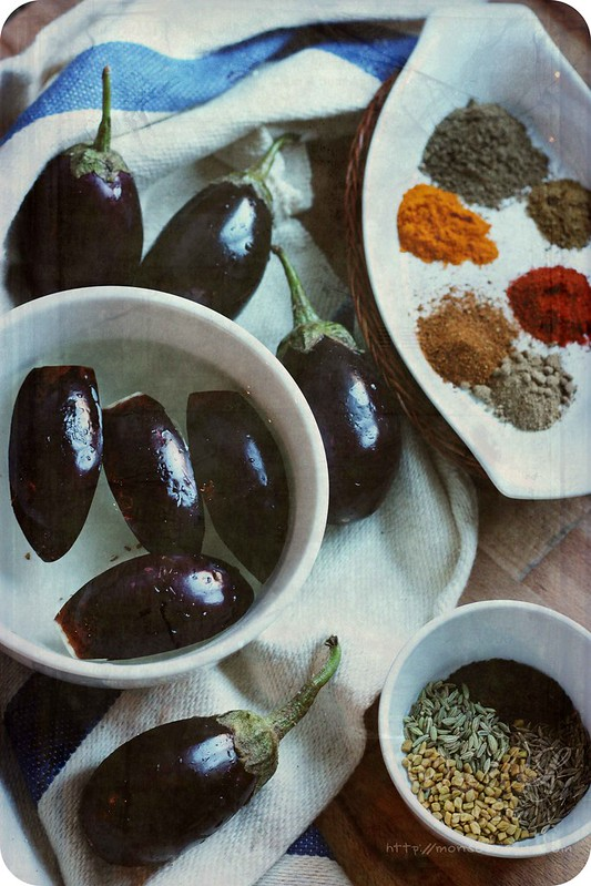 ... of Spices...: Achari Baingan Recipe | Eggplants with Pickling Spices