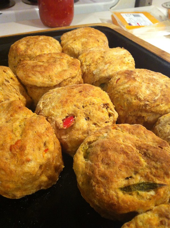 Recipe: Buttermilk Cheddar Biscuits with Fermented Jalapenos Pepper (Hot) Hot Pepper December Cheese