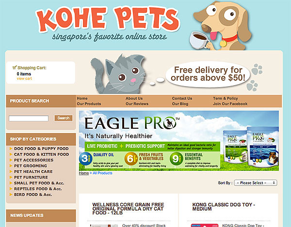 Kohe Pets online store