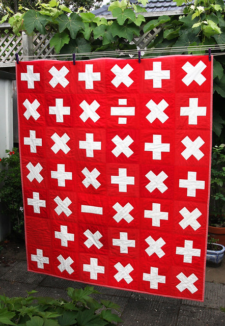Math facts quilt for Hazel's teacher