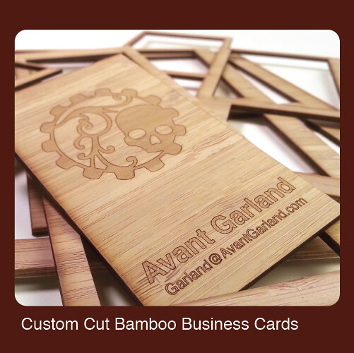 Custom Cut Bamboo Business Cards Kickstarter Backer