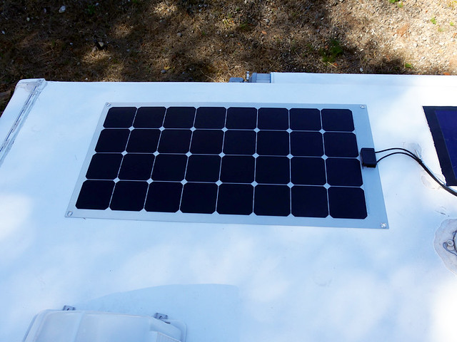 Sat, 09/03/2016 - 15:15 - View the the panel hooked up to the solar charging system on my RV