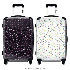 Who doesn't love sprinkles? :tada: I designed these suitcases for @ikaseofficiel @ikase.us #luggage #travel