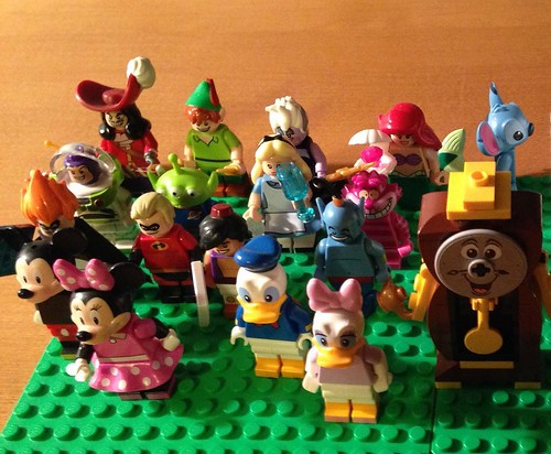 One of these things is not like the others. Cogsworth joins the crew. #Lego #disney #minifig