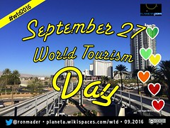 September 27 is World Tourism Day