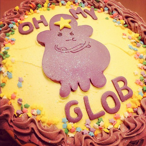 Lumpy space princess rainbow cake for @kmagger happy lumpin' birthday