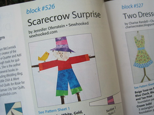Scarecrow Surprise! In Quiltmaker's 100 Blocks, vol. 6