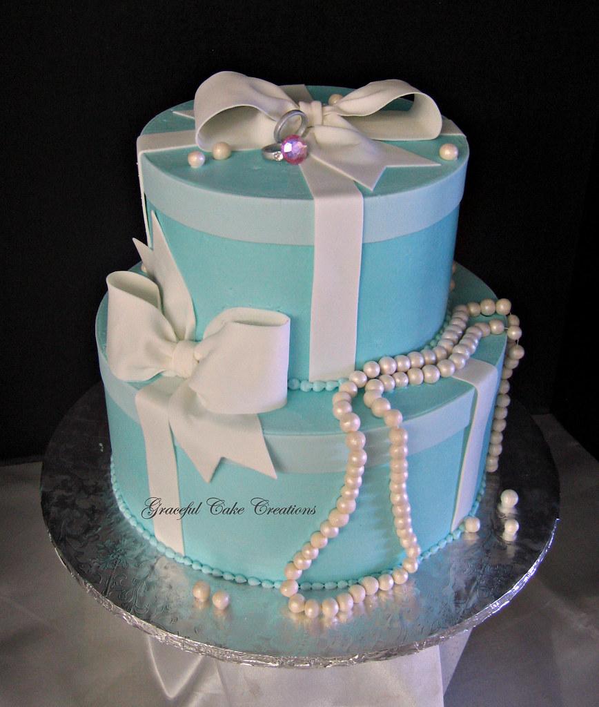 Breakfast at Tiffany's Cake Topper Bridal Shower Cake  Tiffany Bridal Shower Cakes