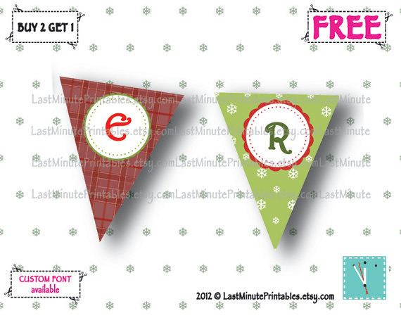 Holiday banner, christmas template, Christmas decal, christmas stencil, christmas lot, christmas bunting, banner bunting, bunting clipart 03a