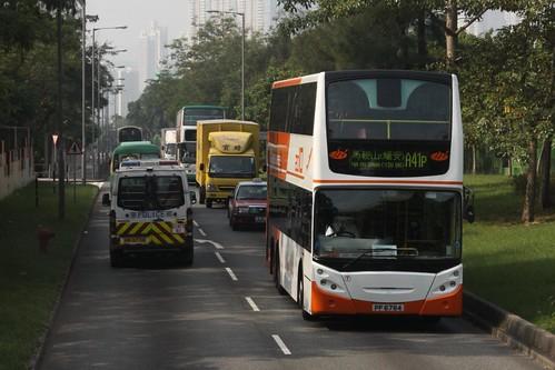 Busy roads in Ma On Shan