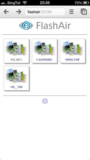 FlashAir - Web Interface