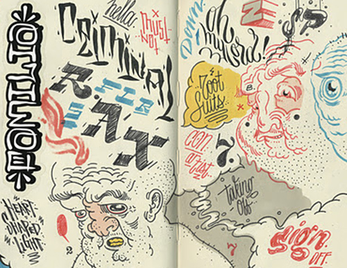 andres_guzman_steakmob_moleskine_doodle_sketch_drawing_ink_characters_typography_lettering