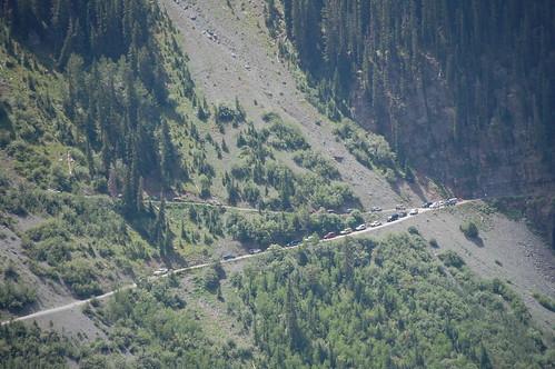 View of FJS descending Black Bear taken from Imogene Pass