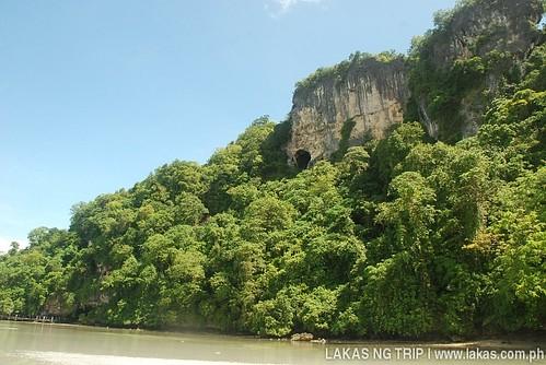 Tabon Caves Complex from the sandbar