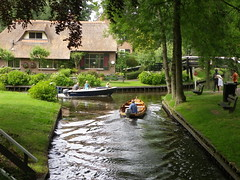 The standard mode of transport in Giethoorn.