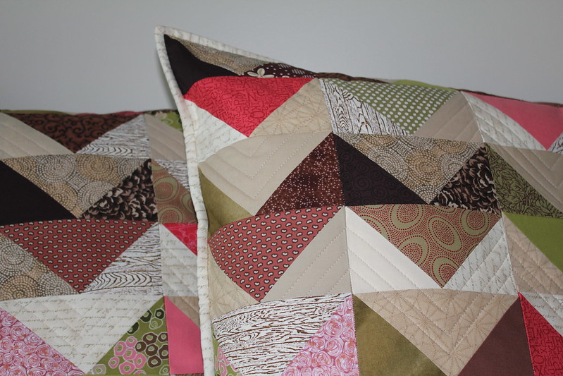 Chevron Geese Pillows Finished Close Up