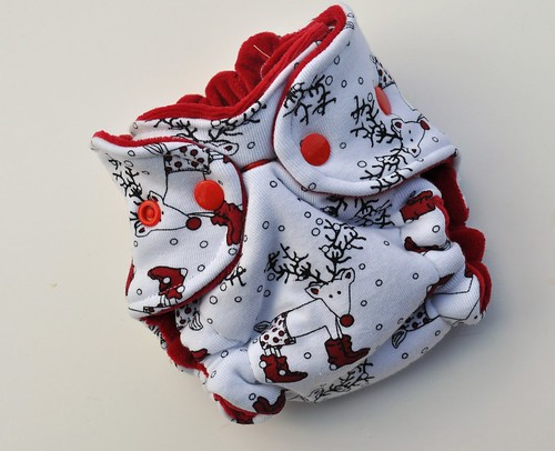 Newborn Hybrid Fitted Reindeer in Shoes Cotton Velour