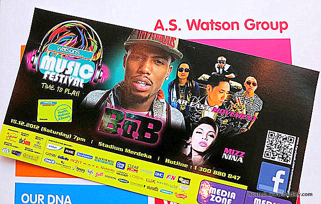 How to Redeem Watsons Music Festival Ticket