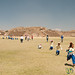 Kids Running Across Monte Alban - Oaxaca, Mexico