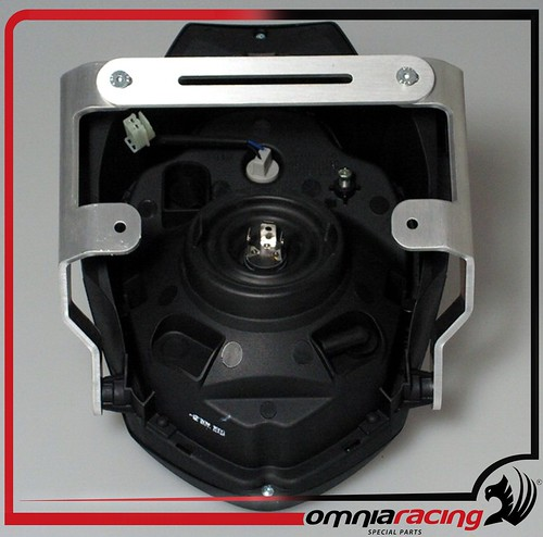 Kit faro cupolino Omnia Racing modello Light con supporto universale alluminio satinato - CU6-LI