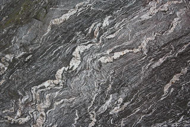 Metamorphic rock at bottom of Fox Glacier