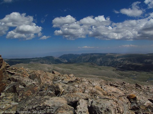 A view from the top of Mount Rearguard, Custer National Forest, Montana
