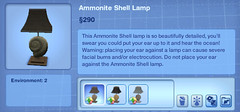 Ammonite Shell Lamp