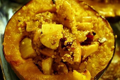 quinoa & acorn-stuffed squash