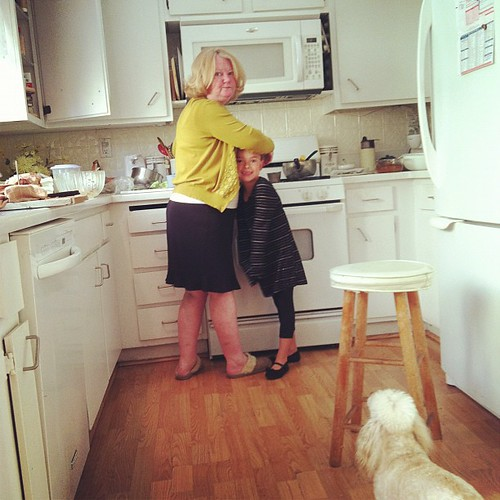 Cooking with Auntie.