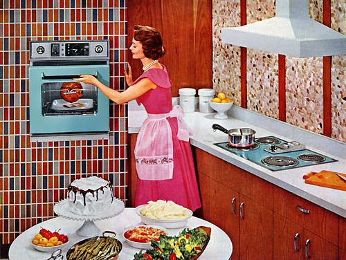 Vintage kitchen and bathroom advertisements