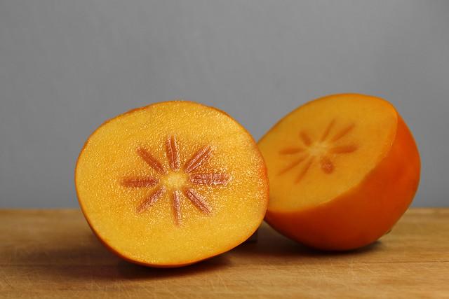 Kaki fruit - cut in half 2 | Flickr - Photo Sharing!