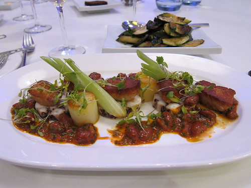 riba -scallops, octopus, borlotti beans and chilli