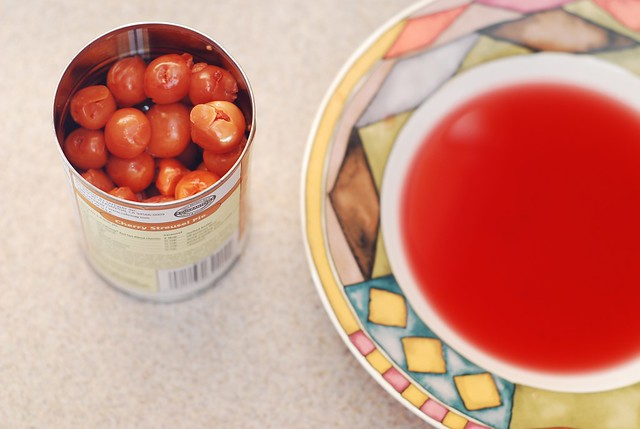 juice from canned cherries