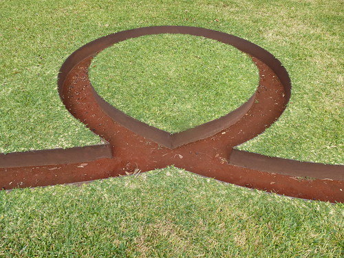 Menil Collection, Houston. Michael Heizer sculpture. by trudeau