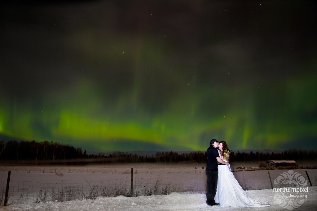 Northern Lights Wedding Prince George British Columbia Photographer PG BC Canada