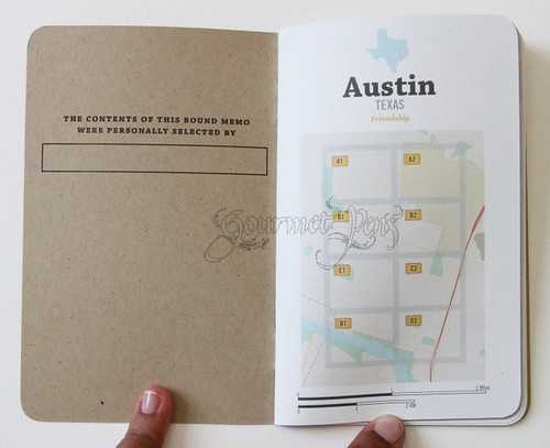 Bound Custom Journals - Custom Content - Austin Map