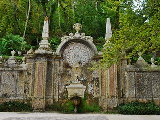 Beautiful Fountain at Quinta da Regaleira