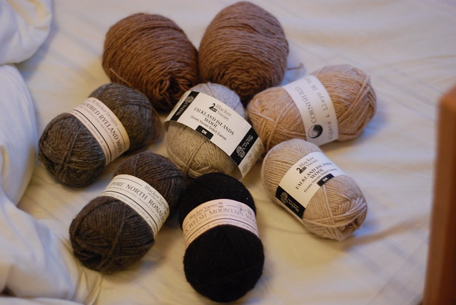 Blacker Yarns and Cornish Eco, Blacker Swan, North Ronaldsay, Ryeland and more DK yarns