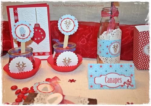 Kit imprimible Navidad Carteles mesa Merbo Events