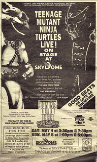The Toronto Sun :: Friday May 3,1991 ENTERTAINING TO; 'Teenage Mutant Ninja Turtles - Coming Out of Their Shells Tour' ..spot ad   (( 1991 ))