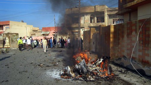 Fires from bomb blasts in Iraq on November 29, 2012. The country is still embroiled in a major conflict over its future. by Pan-African News Wire File Photos