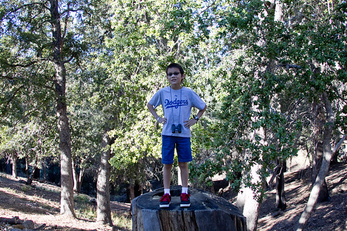 Josh on a stump