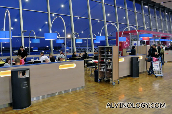A cafeteria at the airport